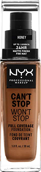 NYX Professional Makeup Can't Stop Won't Stop 24HR Full Coverage Foundation  [Honey]