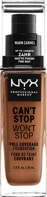 NYX Professional Makeup Can't Stop Won't Stop 24 Hour Foundation 30ml Warm Carmel
