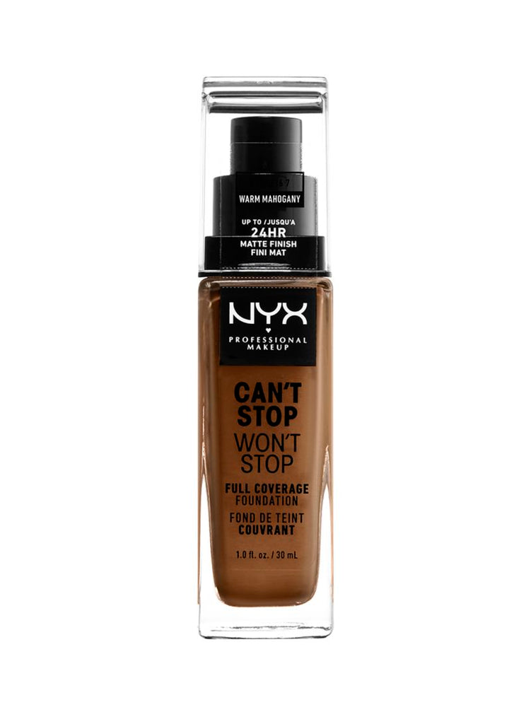 NYX Professional Makeup Can't Stop Won't Stop 24 Hour Foundation 30ml Warm Mahogany