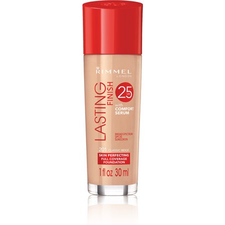 Rimmel Lasting Finish 25hr Skin Perfecting Tube Foundation 30ml-201 Classic Beige