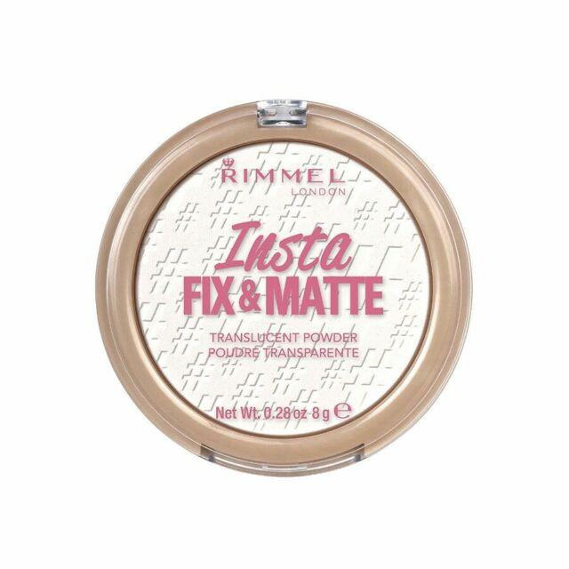 Rimmel London Insta Fix & Matte Translucent Pressed Powder. No.001