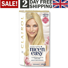 Clairol Nice'n Easy Permanent Hair Dye SB2 Ultra Light Cool Summer Blonde