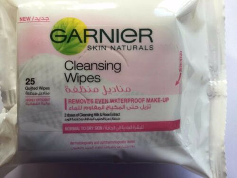 Garnier Skin Naturals Cleansing Wipes - 25 Quilted Wipes