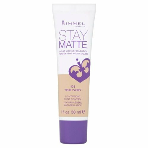Rimmel London Stay Matte Liquid Mousse Foundation 30Ml[True Ivory 103]