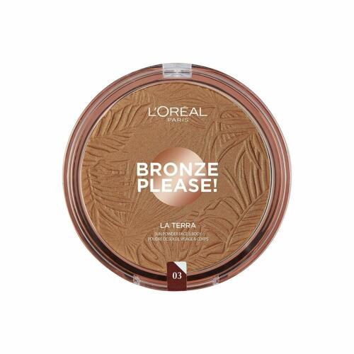 L'Oreal Glam Bronze La Terra Face & Body Sun Powder (Large Size 18 grams)[Amalfi Medium 03]