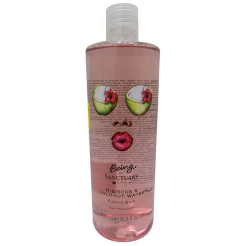 Being by Sanctuary Spa Bubble Bath 500ml - Choose From 4 Fragrances[Hibiscus & Coconut Water]
