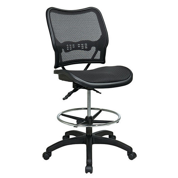 deluxe air grid all mesh dual action drafting chair backcare basics