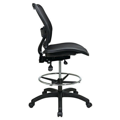 Deluxe Air Grid All Mesh Dual Action Drafting Chair