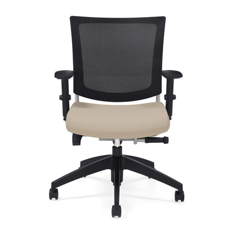 Graphic in the Mesh Back Version with Seat Shown in Light Parchment Color