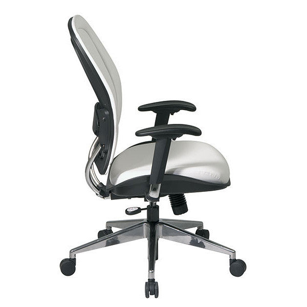 White Leatherette Managers Chair