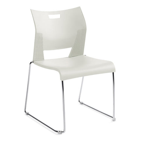 Duet Armless Stacking Chair Shown In 3 Day Quick Ship Color Ivory Clouds