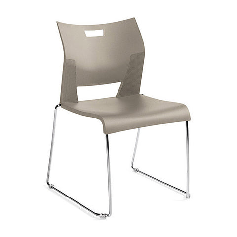 Duet Armless Stacking Chair Shown In 3 Day Quick Ship Color Latte Beige