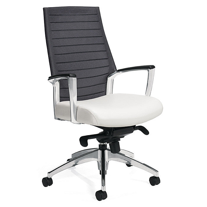 Accord Mesh Back Tilting Chair Shown with Quarry Grey Mesh