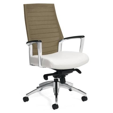 Accord Mesh Back Tilting Chair Shown with Sandy Beach Mesh