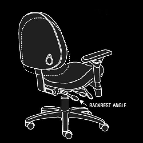 BodyBilt High-Back Executive Task Chair's Easy Reach Back Angle Control Lever
