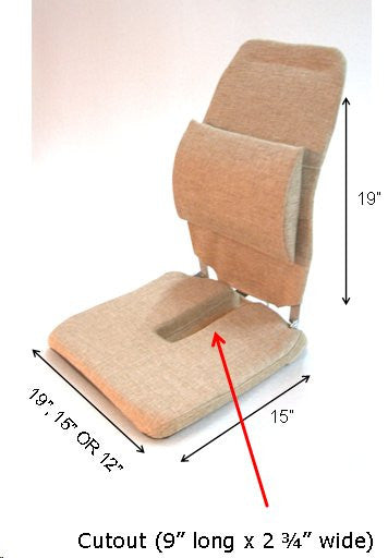 Sacro-Ease Deluxe Coccyx Cutout Seat