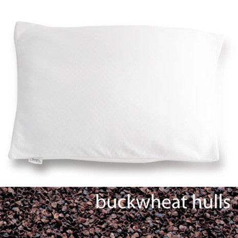Bucky Bed Pillow with Buckwheat Hulls