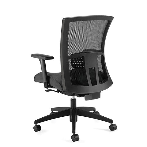 Vion Ergo Task Chair Shown in Urban Black Coal Seat Cushion with Standard Black Base