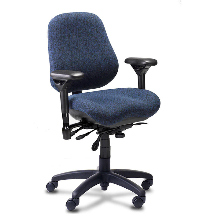 BodyBilt J2507 High-Back Ergonomic Task Chair Shown in Comfortek Color: Midnight --------CLICK ON ANY OF THE IMAGES BELOW TO VIEW THEM HERE-----