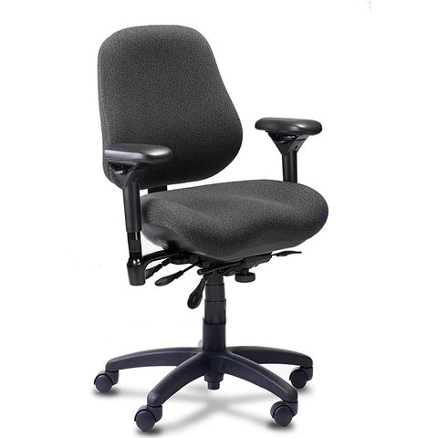 BodyBilt J2507 High-Back Ergonomic Task Chair Shown in Comfortek Color: Steel