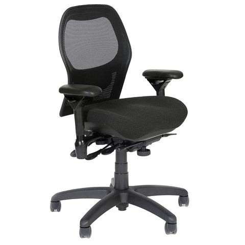 BodyBilt J2607 Mesh Back Task Chair Shown in Comfortek Fabric Color: Carbon