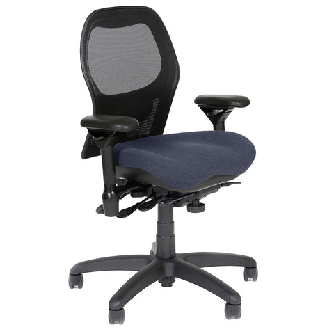 BodyBilt J2607 Mesh Back Task Chair Shown in Comfortek Fabric Color: Midnight