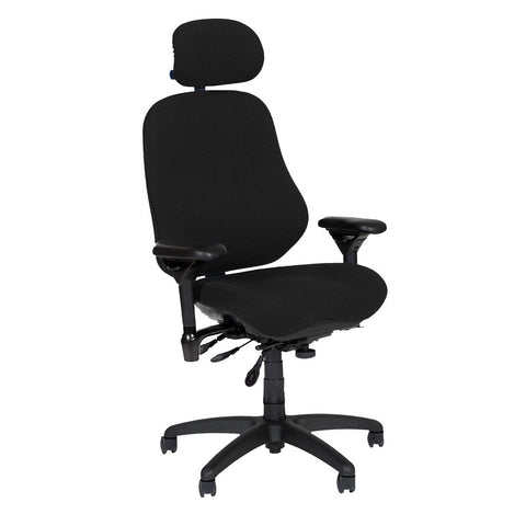 BodyBilt High-Back Executive Task Chair Shown in Comfortek Fabric Color: Carbon