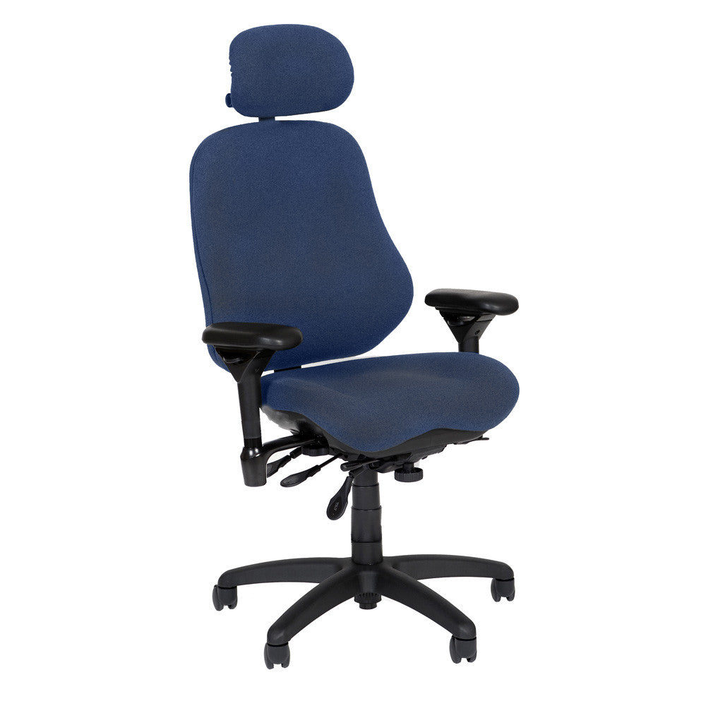 BodyBilt High-Back Executive Task Chair Shown in Comfortek Fabric Color: Midnight --------- PLEASE CLICK ANY OF THE IMAGES BELOW TO VIEW THEM HERE -----