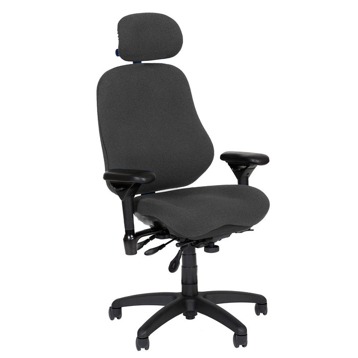 BodyBilt High-Back Executive Task Chair Shown in Comfortek Fabric Color: Steel