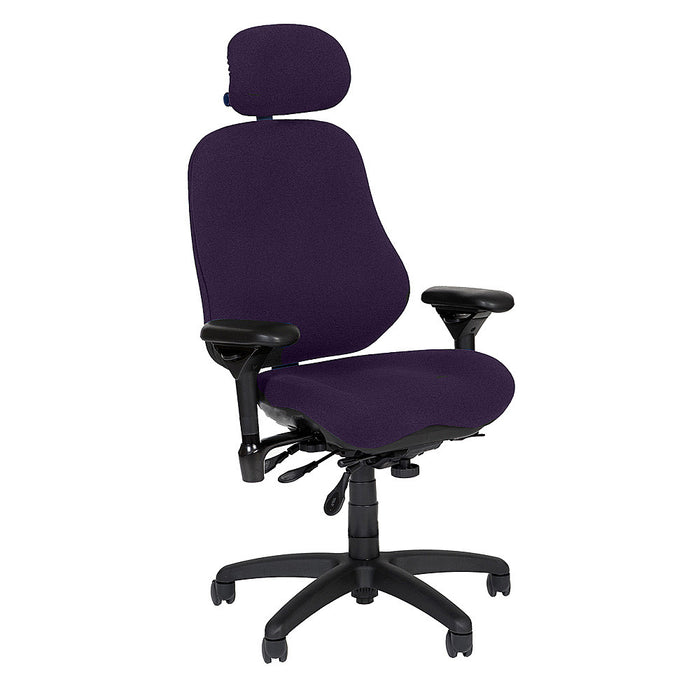 BodyBilt High-Back Executive Task Chair Shown in Comfortek Fabric Color: Wine