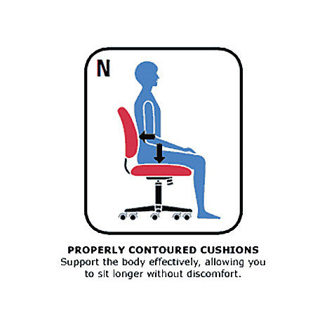 Weev 2221-3 Multi-Tilter Ergonomic Chair