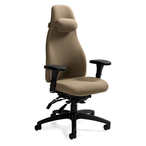 ObusForme Ergonomic Task Chair Shown in Oatmeal