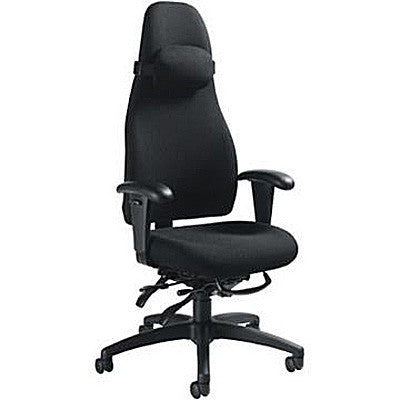 ObusForme Ergonomic Task Chair Shown in Raven