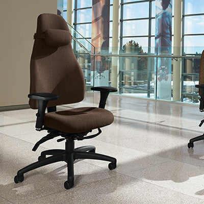 ObusForme Ergonomic Task Chair Shown in Cocoa