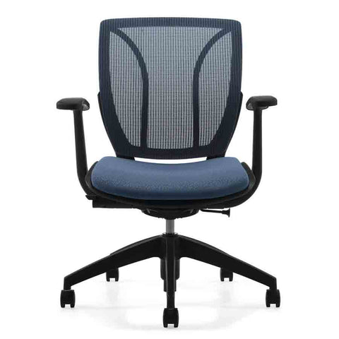 Roma Medium Mesh Back Office Chair Shown in Blue