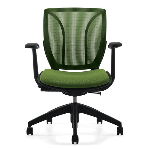 Roma Medium Mesh Back Office Chair Shown in Green