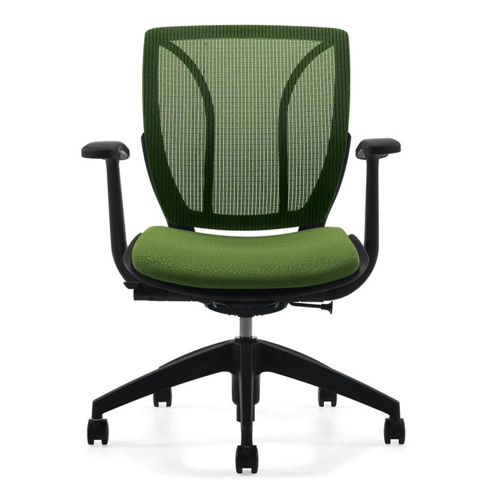 Exceptional Roma Medium Mesh Back Office Chair Shown In Green ...