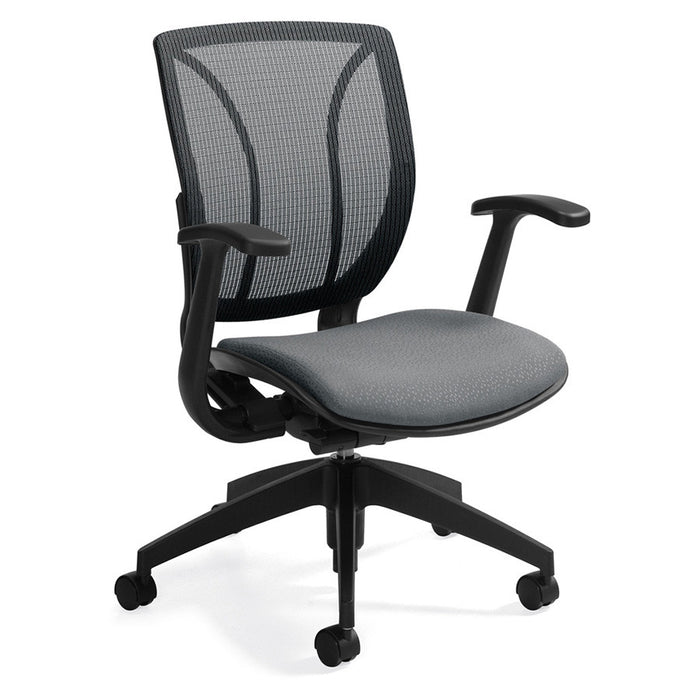 Roma Medium Mesh Back Office Chair Shown in Grey