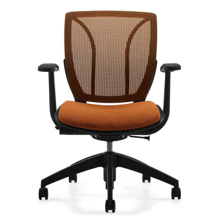 Roma Medium Mesh Back Office Chair Shown in Orange