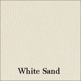 Luxurious Softhide Vinyl Seat Fabric Shown in White Sand