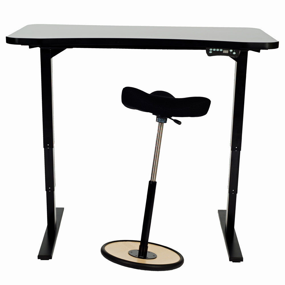 Adjustable Height Sit-to-Stand Desk-Stool Set