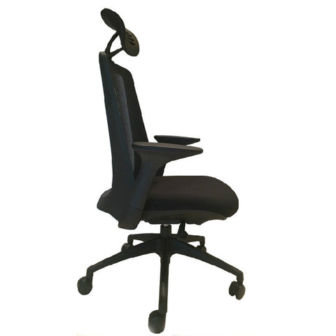 Woodstock Creedence Weight Activated Tilt Chair, Leather Seat