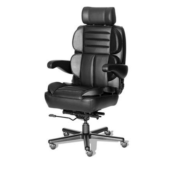 galaxy big & tall leather combo office chair – backcare basics