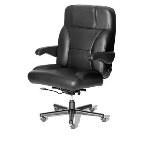 Stress Reducer Big & Tall Leather Combo Office Chair