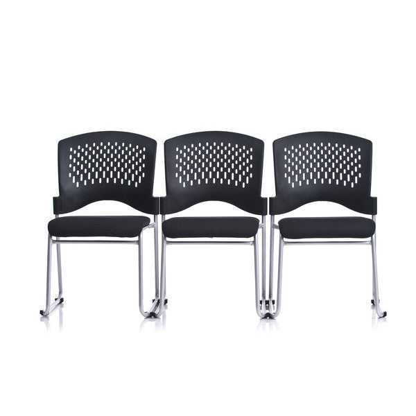 Ergo Contract Padded Guest Stack Chair Set Of 4 Backcare Basics