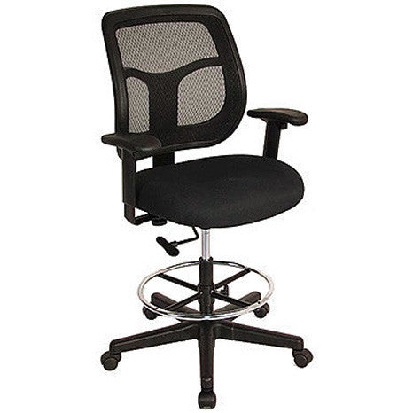 Ratchet Back Mesh Drafting Stool