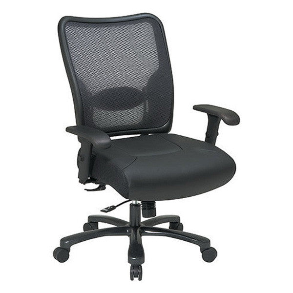 Air Grid Leather Seat Big & Tall Executive