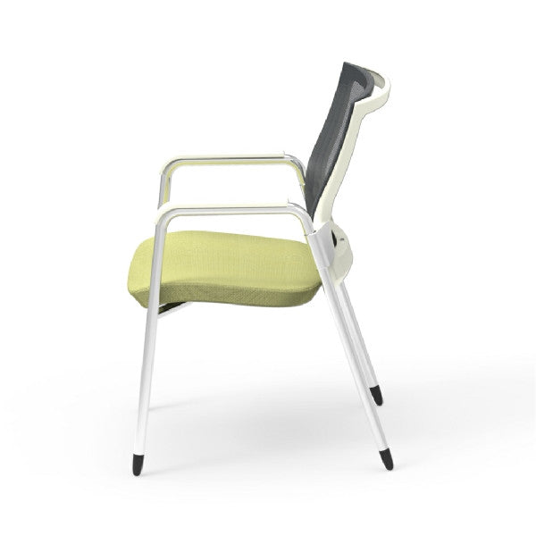Oroblanco White Frame Guest Arm Chair