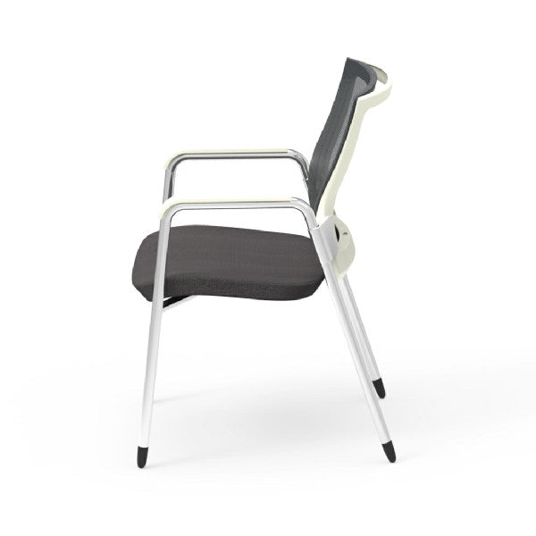 Oroblanco White Frame Guest Arm Chair Oroblanco White Frame Guest Arm Chair  ...
