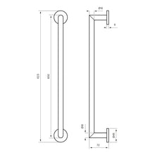 Load image into Gallery viewer, TA212 TOWEL RAIL - BRASS